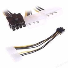 2 x 4-контактный Molex LP4 To 8-контактный PCI Express видео карта ATX PSU питание адаптер кабель