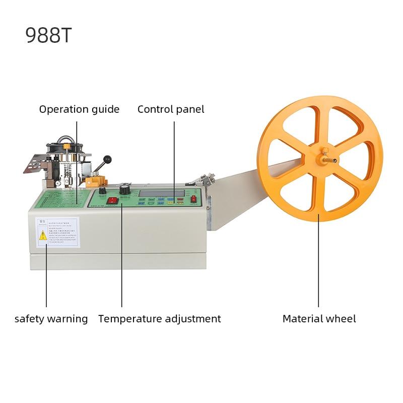 Купить с кэшбэком Cloth Belt Cutting Machine Computer Automatic Hot And Cold Magic Adhesive Tape Zipper Webbing Machine Elastic Belt Cutting