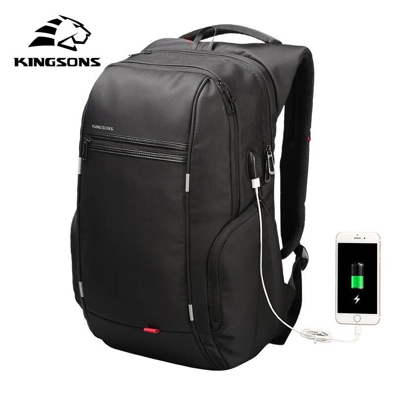 Kingsons мужской женский модный рюкзак 13 15 17 дюймов рюкзак для ноутбука 20 35 литров водонепроницаемый рюкзак для путешествий Студенческая школьная сумка