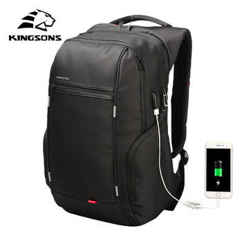 Kingsons Men Women Fashion Backpack 13 15 17 Inch Laptop Backpack 20-35 Litre Waterproof Travel Backpack Student School Bag - DISCOUNT ITEM  40% OFF All Category