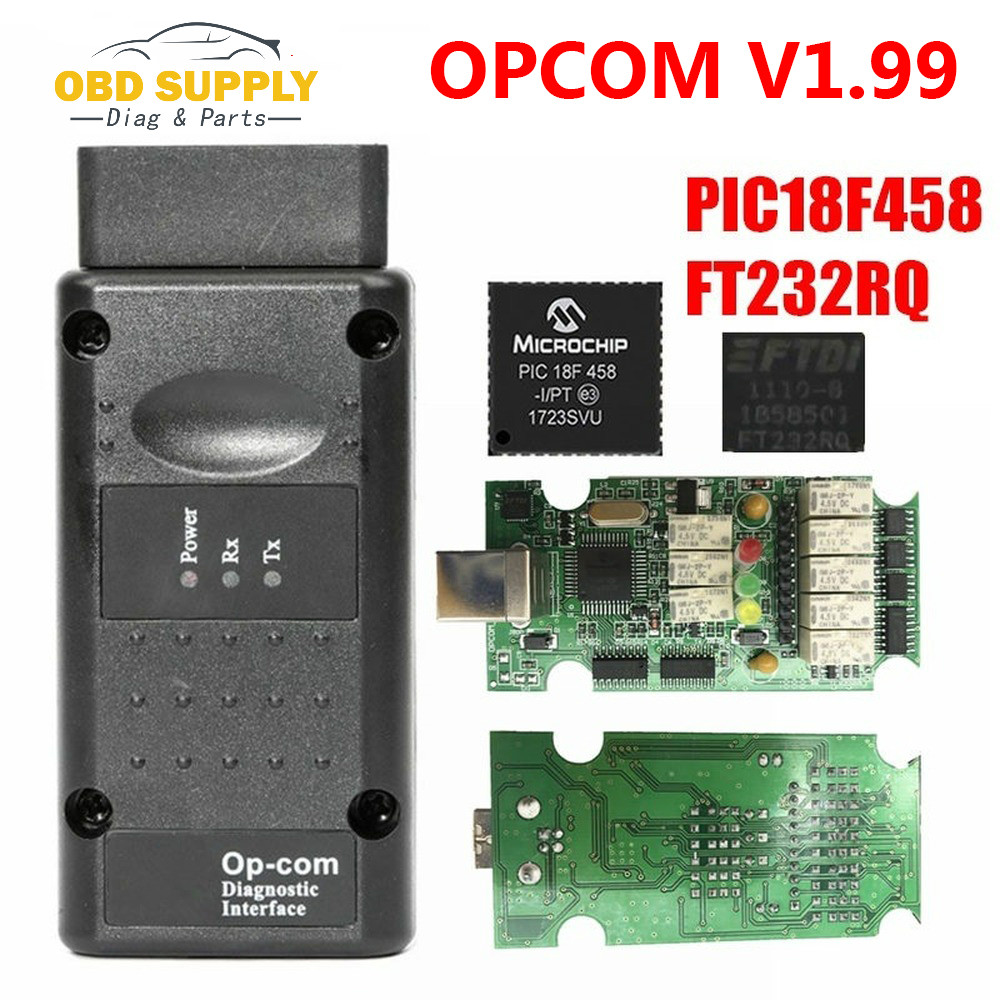 Newest V1.99 OPCOM V1.95 Firmware PIC18F458&FTDI Chip Green PCB For Opel/G M NEW NEC Relay <font><b>OP</b></font> <font><b>COM</b></font> Scanner 1.95 <font><b>OP</b></font>-<font><b>COM</b></font> image
