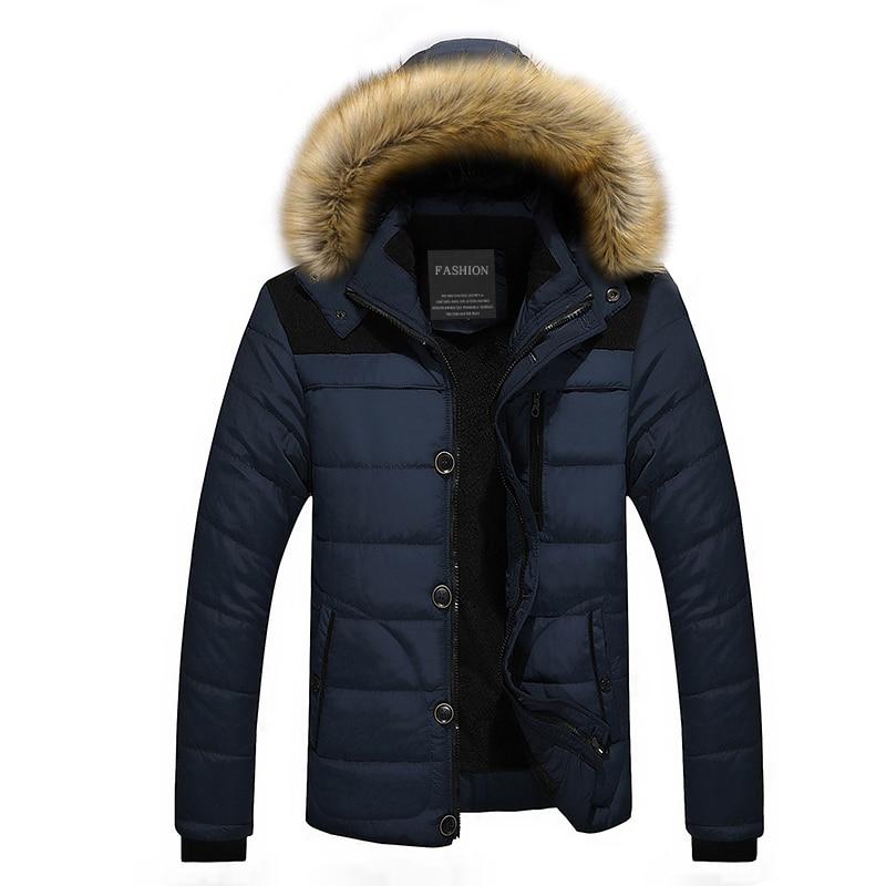 2020 Fur Collar Hooded Men Winter Jacket Men Coat Snow Parka Down Jacket Outerwear Thick Thermal Men Warm Wool Liner Coat M-6XL 4