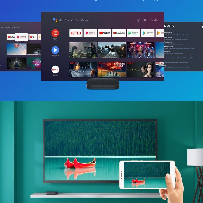 Globale Original Xiaomi Mi Box S 4K HDR Android TV 8,1 Mi Boxs 2G 8G WIFI Google cast Netflix Set Top Mi Box 4 Media Player