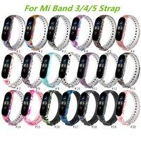 Strap Für Xiaomi Mi Band 6 5 4 3 Silikon Sport Armband Armband Ersatz Für Xiaomi Band 3 MiBand 4 5 handgelenk Bunte Strap