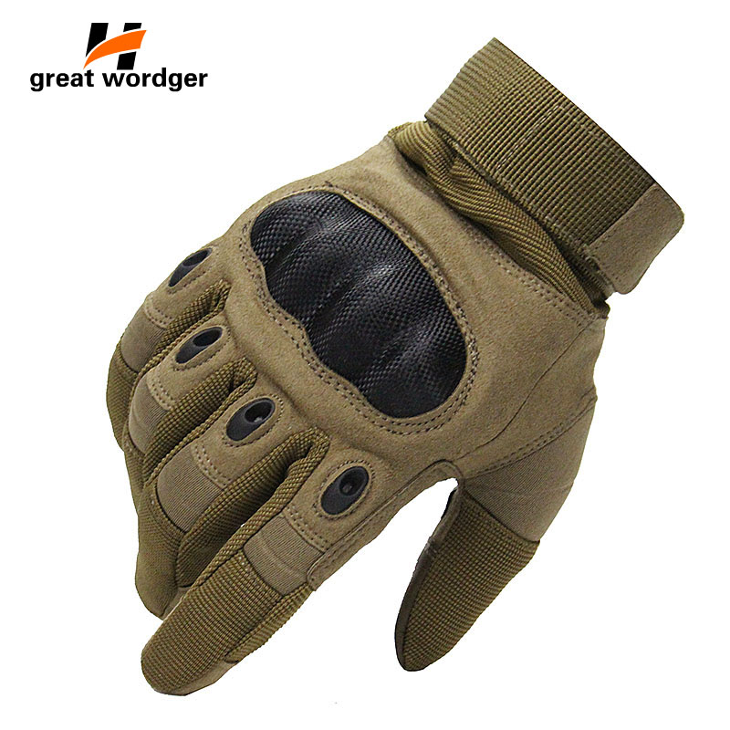 Touch Screen Tactical Gloves Military Army Paintball Shooting Airsoft Combat Anti-Skid Carbon Knuckle Bicycle Full Finger Gloves