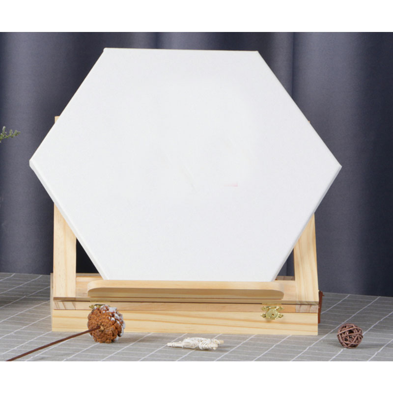 1Pieces Hexagon Cotton Wood Frame for Canvas Oil Painting Artist Painting Canvas Blank Cotton Canvas Panels Wholesale