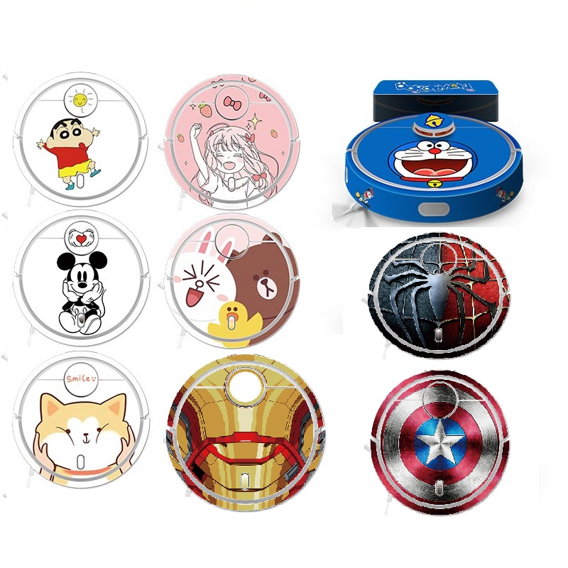 2019 New Cute Sticker For XIAOMI MIJIA Robot Vacuum Cleaner Beautifying Protective Film Sticker Paper Cleaner Parts