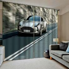 Luxury Blackout 3D Window Curtains For Living Room Bedroom road car curtains curtain