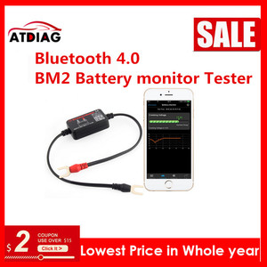 Image 2 - 12V Bluetooth 4.0 BM2 Battery monitor Tester Diagnostic Tool for Android IOS iphone Digital Analyzer Battery Measurement Units