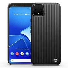 Capa de telefone para google pixel 4 4xl capa protetora para pixel4 pixel4xl armadura escovado listra silicone anti queda capas de casca macia