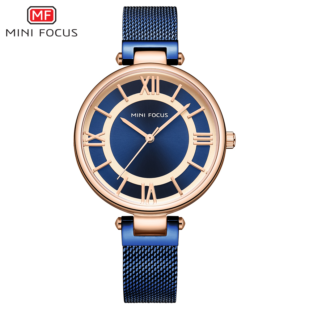 MINI FOCUS Casual Dress Watch Women Quartz Lady Watch For Woman Girls Watches Womans Womens Watches Top Luxury Brand Wristwatch