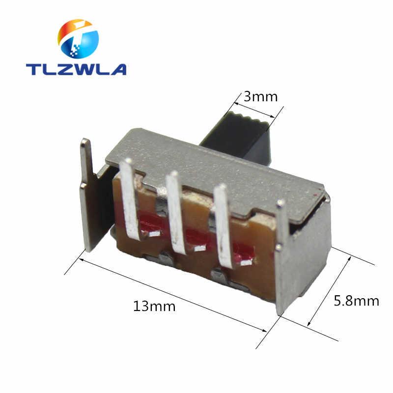 10 個 SS12F23 SS12F23VG5 0.5A 50 12v 3PIN 1P2T 90 度湾曲した針スライドスイッチハンドル高 5 ミリメートル