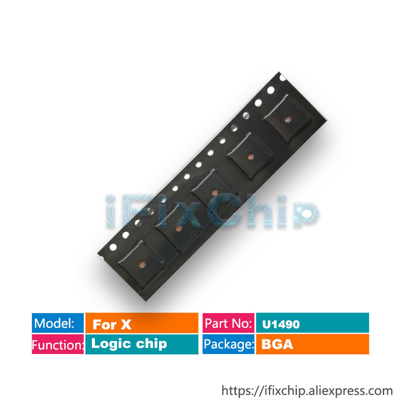5 10pcs/lot U1490 for iphone X Logic Chip IC Fix not powerIntegrated Circuits   -