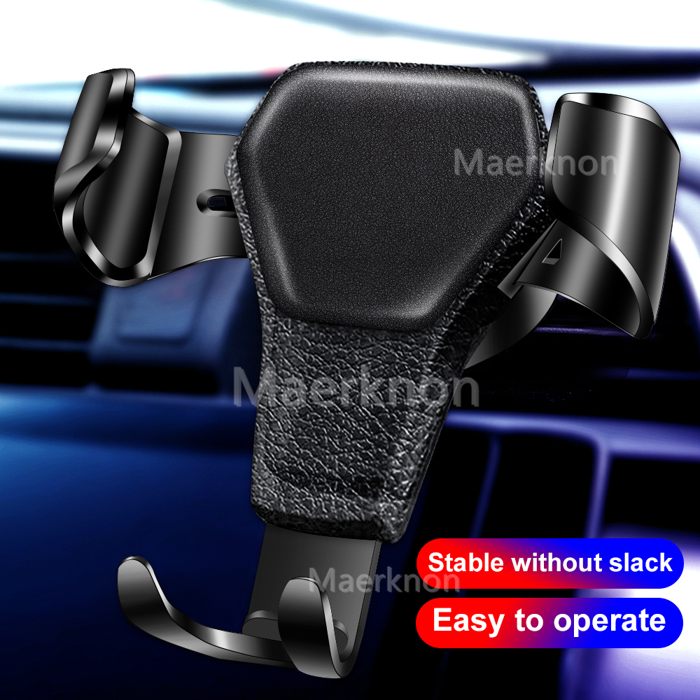 Gravity Car Holder For Phone In Car Air Vent Clip Mount No Magnetic Mobile Phone Holder Cell Stand Support For IPhone 11 7 Plus