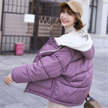 Winter Jacket women down hooded Students Short-style Clothes GirlsWinter Cotton-padded Coats Big Size Women Coat