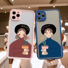 Phone-Case Couple Hard-Cover 6S for Hand-Painted Girl Xr Boy 12 11-Pro Max 8-Plus X-Xs