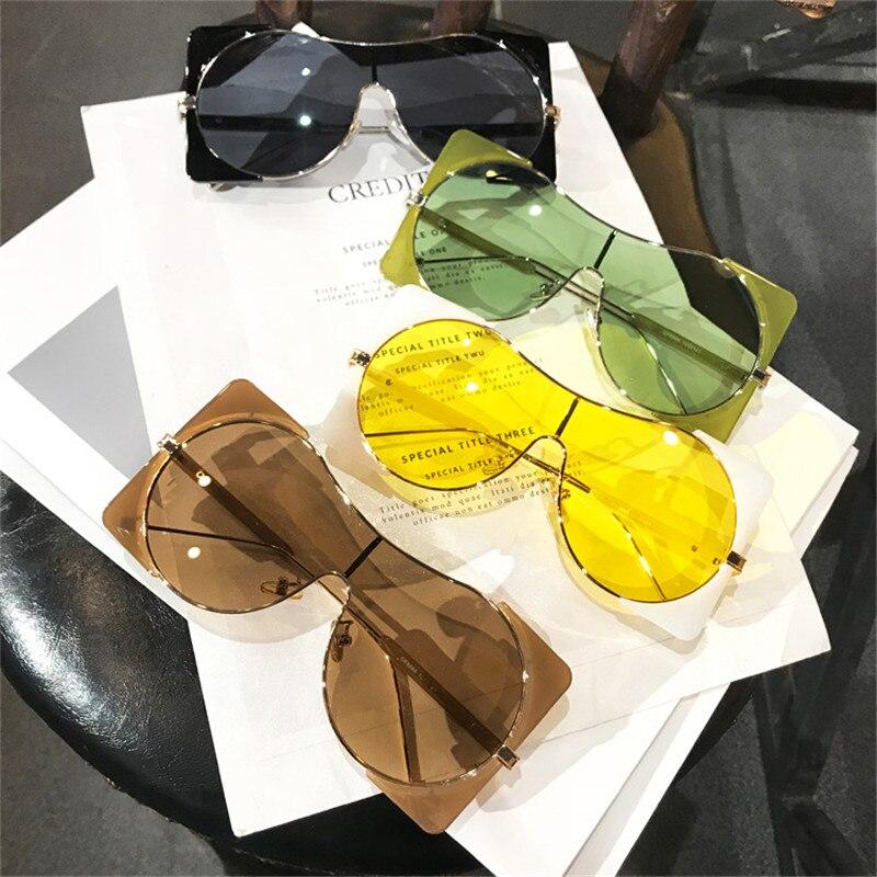 Sen Maries Fashion Sunglasses Women New Colorful Oversized Square Sun Glasses Men Eyewear Goggles One Piece Eyeglass UV400