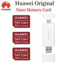 Huawei NM tarjeta 100% Original 90 MB/S 64 GB/128 GB/256GB a Mate20 Pro Mate20 X p30 con lector de tarjeta de memoria Nano USB 3,1