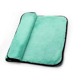 Image 5 - Chiffon de luxe en microfibre Super doux, 50x70cm/38x30 cm/1400g/m2, séchage de la cire de lavage de voiture