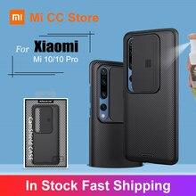 Nillkin-cubierta deslizante funda de teléfono para Xiaomi Mi 10, protección para cámara, Mi10, PC, funda protectora para Mi 10 Pro 5G