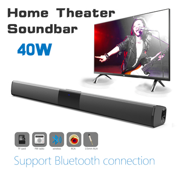 Home theater HIFI Portable Wireless Bluetooth Speakers column Stereo Bass Sound bar FM Radio USB Subwoofer for Computer TV Phone 2