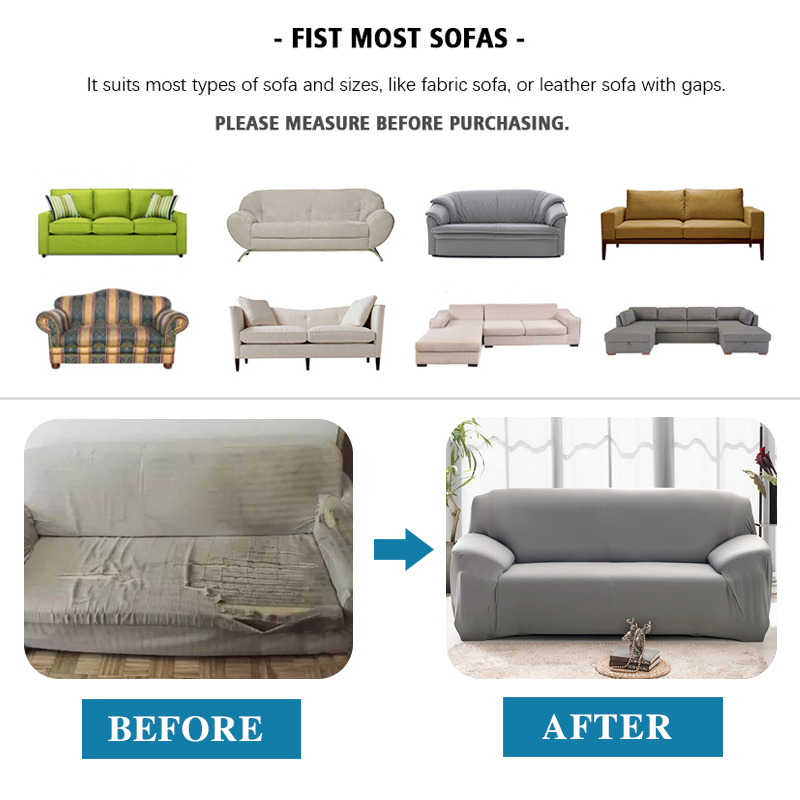 Elastic Plain Solid Coolazy Sofa Cover 5 Chair And Sofa Covers