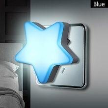 Led night light sensor de controle de poupança energia mini lâmpada sala estar quarto iluminação eua/ue plug luz da noite das crianças