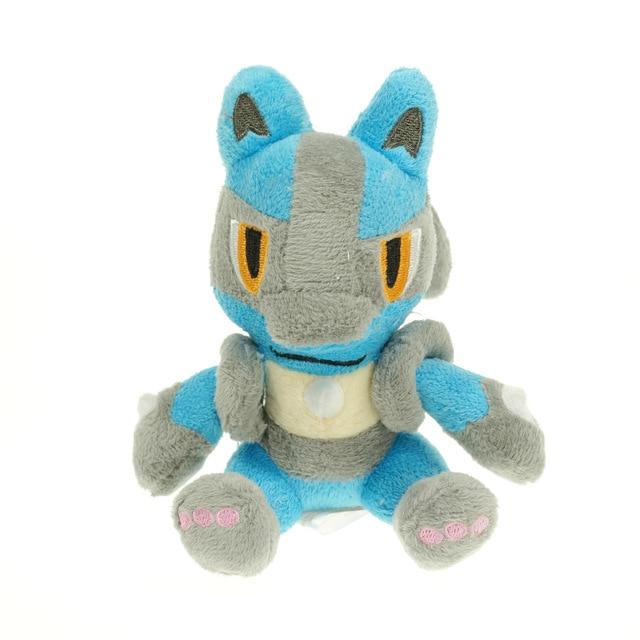 18cm Lucario Mega XY Anime Figure Toy Plush Stuffed Doll Collectible Toy  Gift