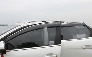 Image 3 - Abs viseiras da janela vento chuva sun defletor viseira guarda ventilação capa para peugeot 3008 3008 gt estilo do carro acessórios 2017 2019 2020