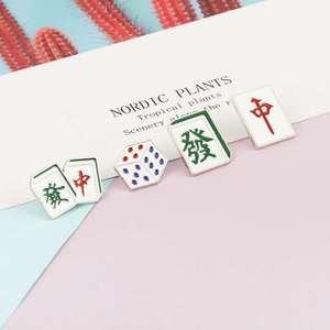 Новая личность в китайском стиле маджонг металлическая брошь дикая студент брошь кости значок ювелирные изделия аксессуары