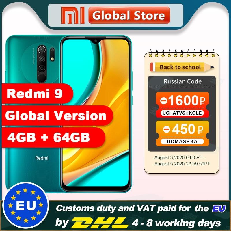 Instock Global Version Xiaomi Redmi 9 4GB 64GB Smartphone Octa-core Media Tek Helio G80 13MP Rear camera 5020mAh Redmi9(China)