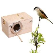 Straw-Cage Breeding-Box Bird-House Decor Pet-Accessories Nest Parrot Wood Balcony Home