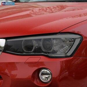 2 Pcs Car Headlight Protective Film Headlamp Transparent Black TPU Sticker For BMW X3 G01 2020 F25 M Accessories