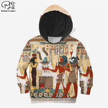 цена на Kids Set egyptian 3d all over printed Hoodies Children zipper Pullover Sweatshirt/hoodies/family t shirt