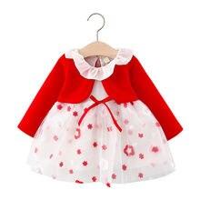 Платье пачка с длинным рукавом для новорожденных девочек