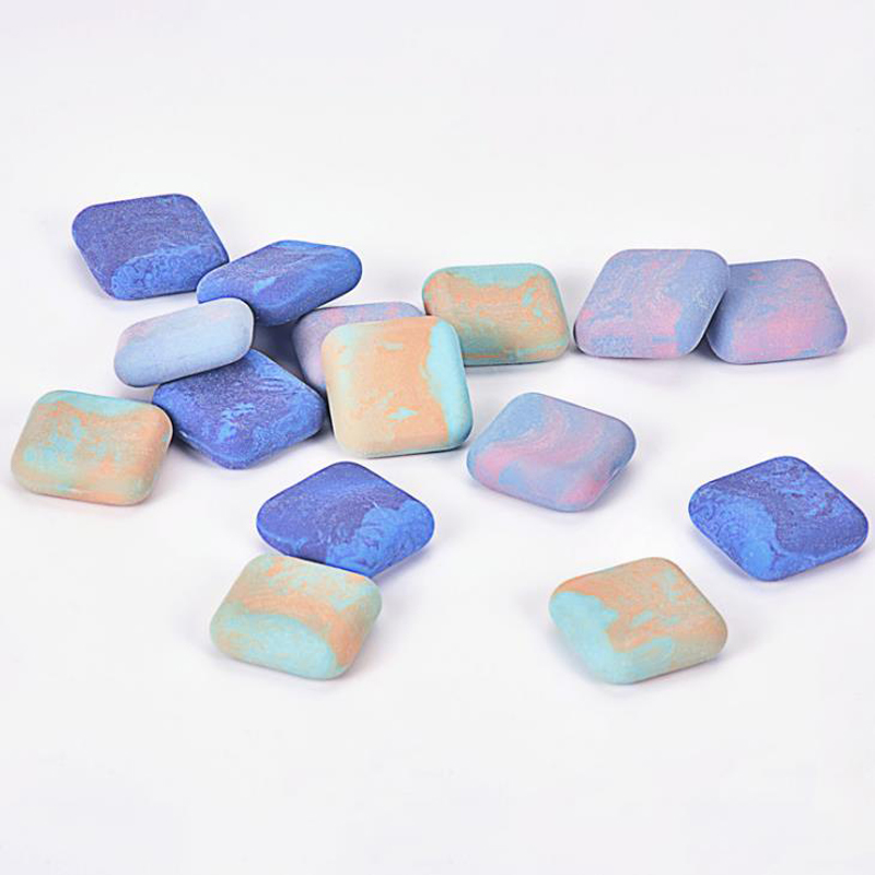 3 Pcs/pack Creative Colorful Marble Stone Shape Eraser Soft Rubber Pencil Erasers Student Prize Gift Stationery Supplies