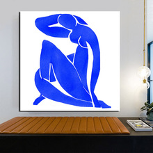 Matisse Blue Simple Portrait Wall Art Canvas Painting Posters Prints Modern Painting Wall Pictures For Living Room Home Decor