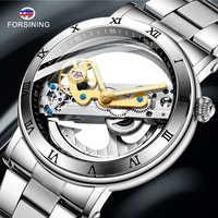 FORSINING Men's Mechanical Watch Men Luxury Skeleton Automatic Watch Self-Wind Clock Sport Wrist Watch Business Wristwatch
