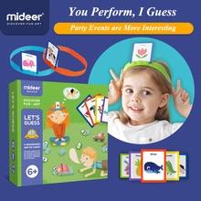 MiDeer настольные игры Пазлы от 3 до 6 лет вы рисуете меня, чтобы угадать игрушки родитель ребенок интерактивные игры раннего детства игрушка пазл