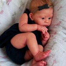 Silikon reborn baby puppe handgemachte 20 Zoll Harlow bebe reborn fertig Puppe spielzeug für kinder geschenk