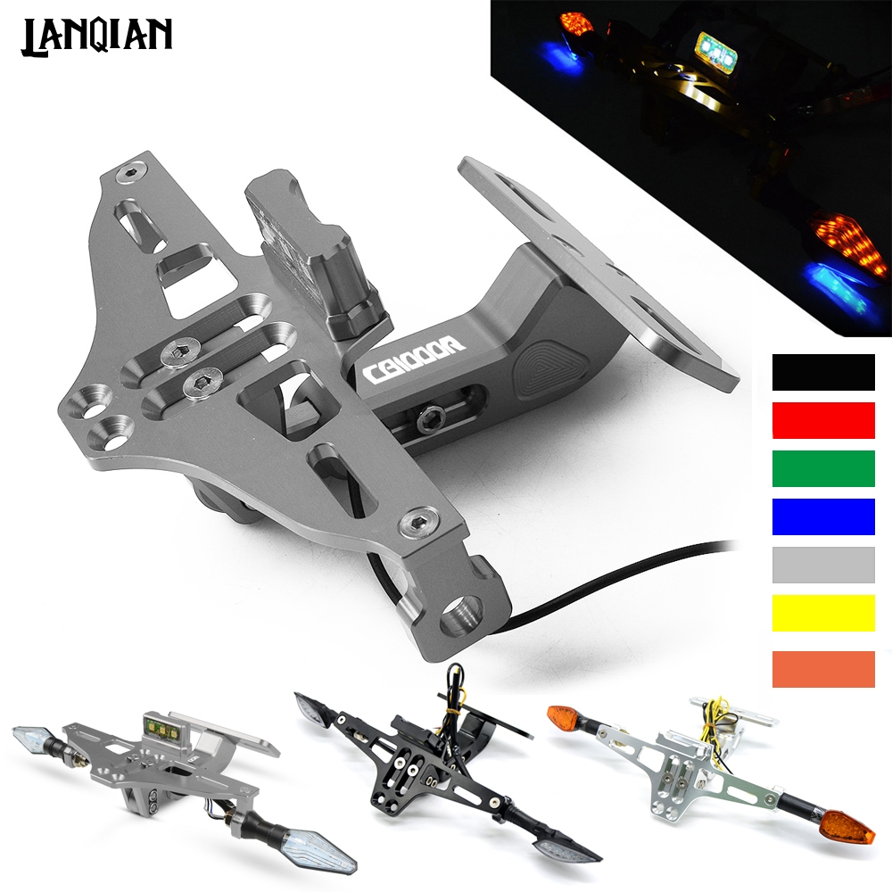 For Honda <font><b>CB1000R</b></font> Motorcycle License Plate Bracket Holder With LED Light CB 1000R 2012-2019 2014 2015 2016 2017 <font><b>2018</b></font> Accessories image