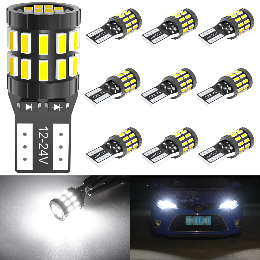 Upgraded Version KATUR 194 T10 W5W 168 LED Light Bulb Super Bright Amber Yellow 30-SMD 3014 Chips 12-24V CANBUS Error Free LED Bulbs Replacement for Car Dome Map Door Courtesy License Plate Light