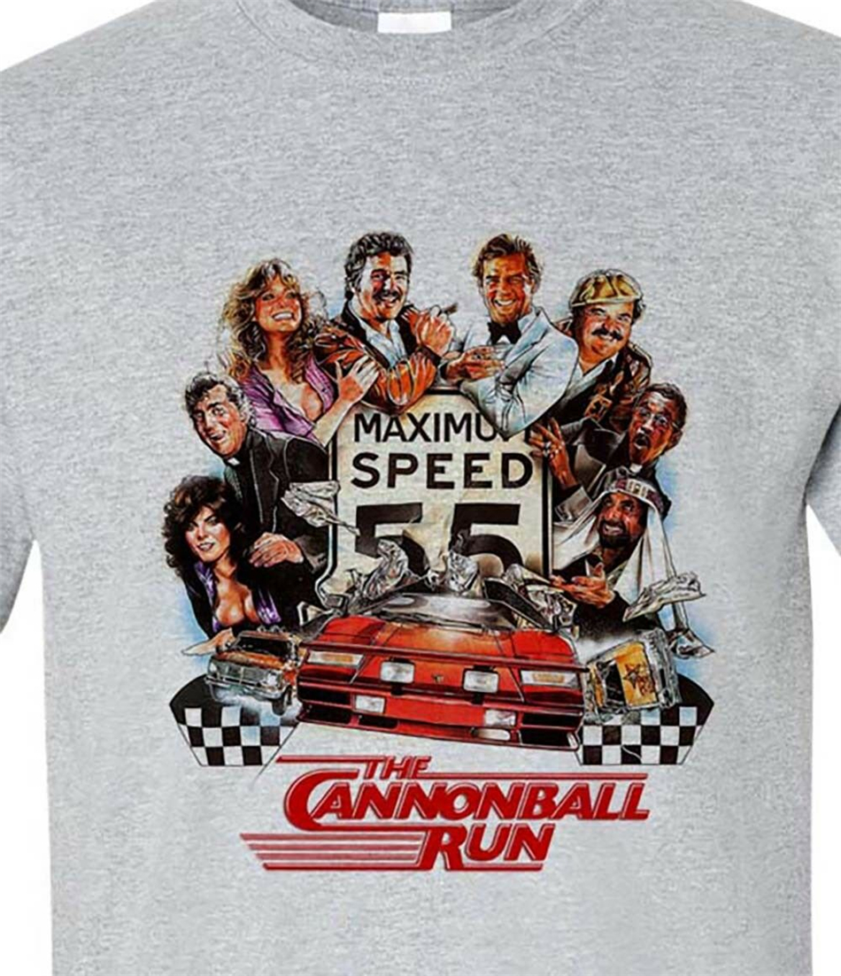 The Cannonball Run T Shirt Burt Reynolds 1980s retro movie Smokey and the Bandit All Size Tee Shirt image