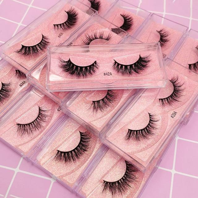 New Fluffy 3D Eyelashes Mink Lashes Makeup Full Strip Lashes Cruelty Free Lashes Luxury Mink Eyelashes maquiagem cilio faux cils 2