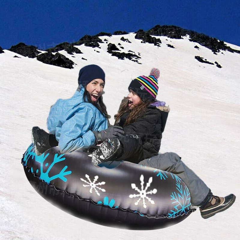 Snow Tube For Winter Fun Inflatable 47 Inch Heavy Duty Snow Sleds Skiing Supplies SEC88