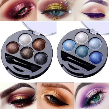 5 Colors Eyeshadow Palette Glitter Shimmer Matte Smokey Color Eye Shadow Makeup Long Lasting Easy To Wear Smooth Powder Cosmetic