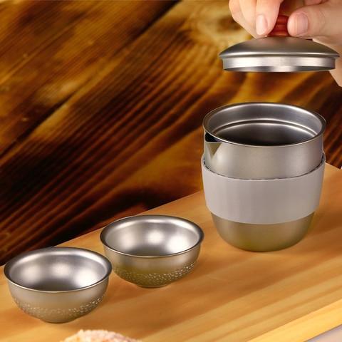 cafe recipiente com cha infusor filtro titanio cafe