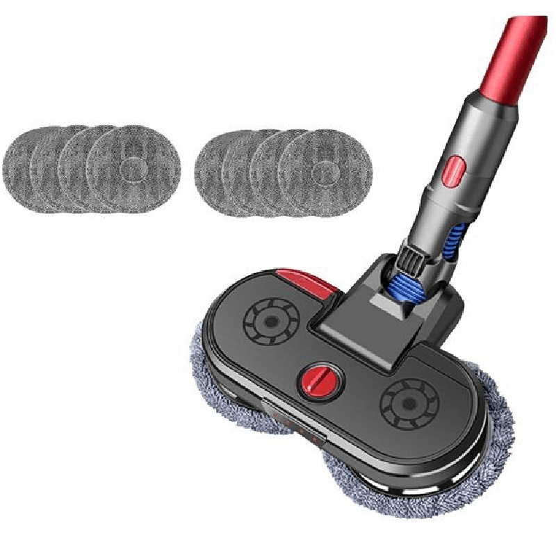 Fluffy Electric Dry and Wet Mop Cleaning Head for Dyson V7 V8 V10 V11 Cordless Vacuum Cleaner Accessories