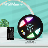 Gledopto Zigbee DC 12V-54V RGBCCT/RGBW/RGBCW/Dimmer Smart LED Streifen Controller Kit kompatibel Mit Tuya APP RF Fernbedienung