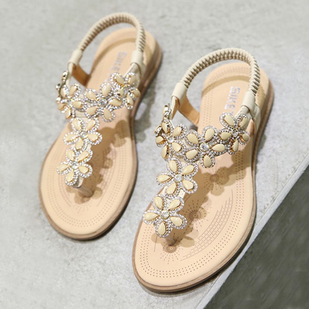 Women/'s Ladies Summer Casual Elastic Band Flip Flops Wedges Sandals Work Shoes